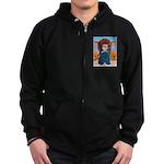 Chief Standing Bull Zip Hoodie (dark)