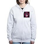 Border Collie Design Women's Zip Hoodie