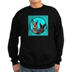 Australian Cattle Dog Pair Sweatshirt (dark)