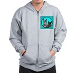 Australian Cattle Dog Pair Zip Hoodie