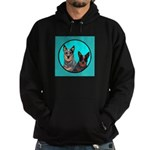 Australian Cattle Dog Pair Hoodie (dark)