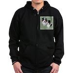 Australian Shepherd Twosome Zip Hoodie (dark)