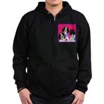 GSP Puppies Rule Zip Hoodie (dark)