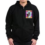 Horses and Mules Zip Hoodie (dark)