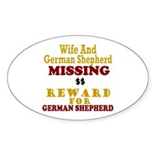 Wife & German Shepherd Missing Oval Decal