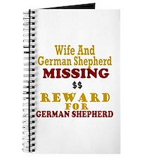 Wife & German Shepherd Missing Journal