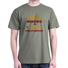 Wife & German Shepherd Missing T-Shirt