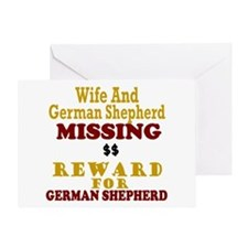 Wife & German Shepherd Missing Greeting Card