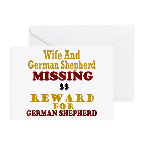 Wife & German Shepherd Missing Greeting Card