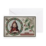 1909 Girl in Red Hood Greeting Cards (Pk of 10)