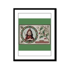 1909 Girl in Red Hood Framed Panel Print