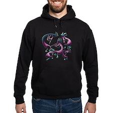 Five Purple Metalic Kokopelli Hoodie