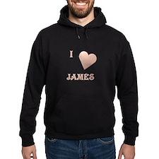 I Love James Hoodie