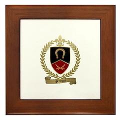 PETITPAS Family Crest Framed Tile