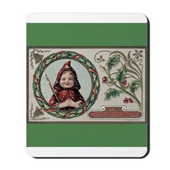 1909 Girl in Red Hood Mousepad