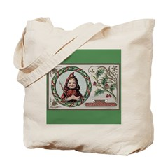 1909 Girl in Red Hood Tote Bag