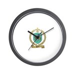 PEROT Family Crest Wall Clock