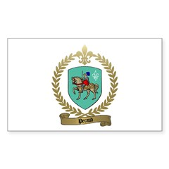 PERAUD Family Crest Rectangle Decal