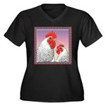 Delaware Chickens Women's Plus Size V-Neck Dark T-