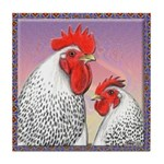 Delaware Chickens Tile Coaster