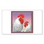Delaware Chickens Rectangle Sticker 10 pk)