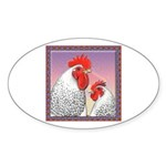 Delaware Chickens Oval Sticker (10 pk)