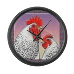 Delaware Chickens Large Wall Clock