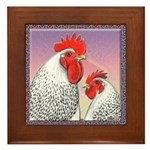 Delaware Chickens Framed Tile
