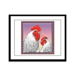 Delaware Chickens Framed Panel Print