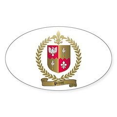 PELTRET Family Crest Oval Decal