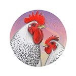 "Delaware Chickens 3.5"" Button (100 pack)"