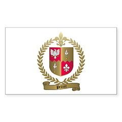 PELTRET Family Crest Rectangle Decal