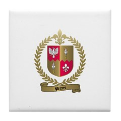 PELTRET Family Crest Tile Coaster