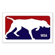 Weimaraner Sports Association Rectangle Decal