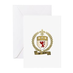 PETIT PRINCE Family Crest Greeting Cards (Package