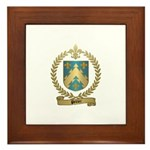 PELTIER Family Crest Framed Tile