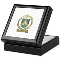 PELTIER Family Crest Keepsake Box