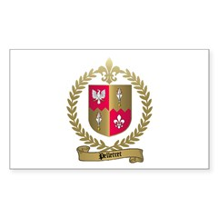 PELLETRET Family Crest Rectangle Decal