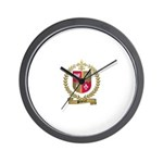 PELLETRET Family Crest Wall Clock