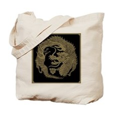 Dual Silver and Golden Japanese Dragon Crest Tote