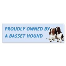 Proudly Owned Basset Hound Bumper Sticker