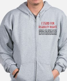 Disability Rights Zip Hoodie