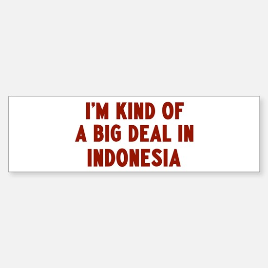 Big Deal in Indonesia Bumper Bumper Bumper Sticker