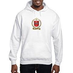 OUELLETTE Family Crest Hooded Sweatshirt