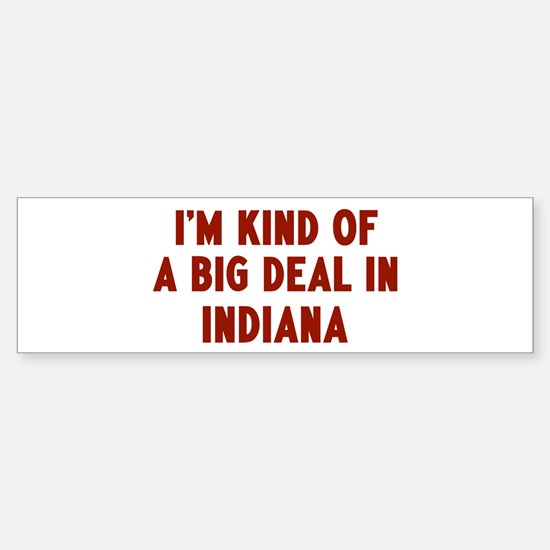 Big Deal in Indiana Bumper Bumper Bumper Sticker
