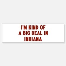 Big Deal in Indiana Bumper Car Car Sticker