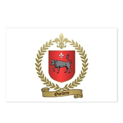 OUELLETTE Family Crest Postcards (Package of 8)