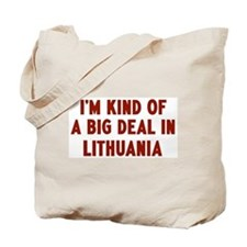 Big Deal in Lithuania Tote Bag