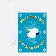 Christmas Cockatoo Greeting Card
