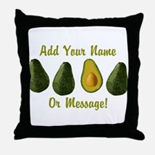 PERSONALIZED Avocados Graphic Throw Pillow